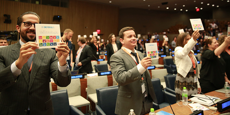 Diego Guarderas, COO of VMS Communications participating at Media for Social Impact Summit - United Nations